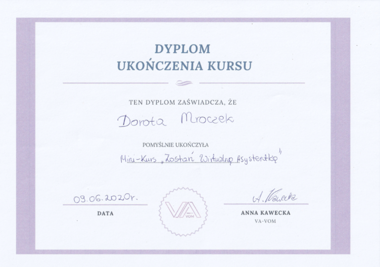 dyplom Va VOM